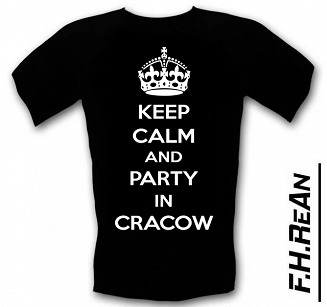 Koszulka T-shirt Keep Calm AND Party in Cracow