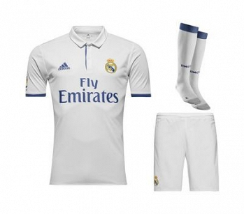 KOMPLET ADIDAS JUNIOR  REAL MADRYT HOME DOMOWY